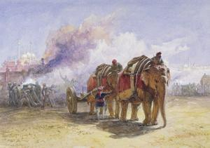 Elephant Battery, 1864 by William 'Crimea' Simpson
