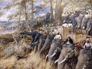 The Prince of Wales in the Terai Beating the Jungle with Sir Jung Bahadur Rana by William 'Crimea' Simpson
