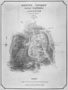 Map of the Ancient Earthworks at Loughton Camp Made around Ad 52 in Epping Forest, Essex, 1876 by William d'Oyley