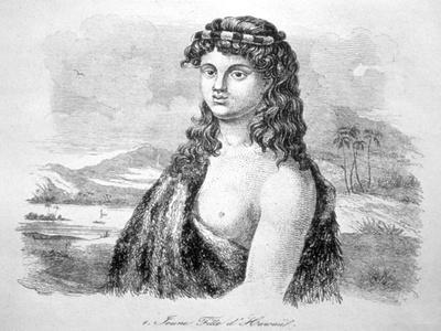 Young Girl from the Island of Hawaii, C1824