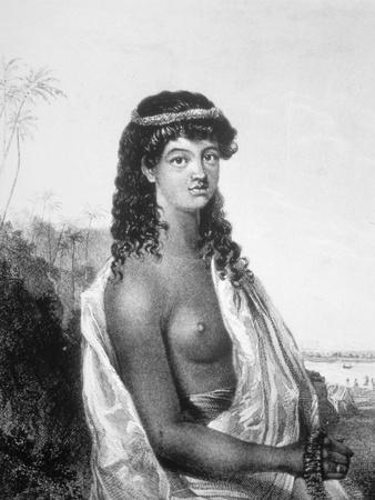 Young Girl of the Sandwich Isles (Hawai), C1826