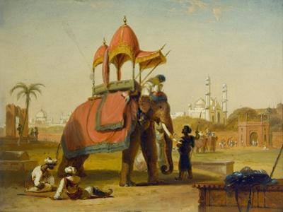 A Caparisoned Elephant - Scene Near Delhi (A Scene in the East Indies), 1832 by William Daniell