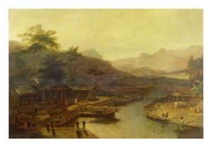 A View in China: Cultivating the Tea Plant, c.1810 by William Daniell