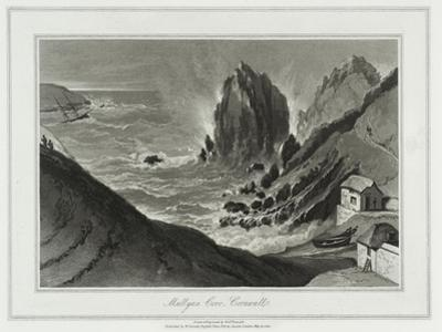 A Voyage Round Great Britain, Mullyan Cover, Cornwall by William Daniell