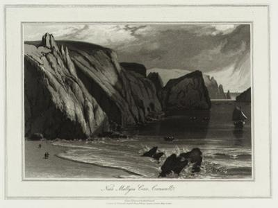 A Voyage Round Great Britain, Near Mullyan Cover, Cornwall by William Daniell