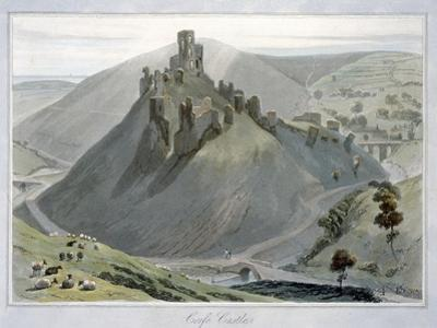 'Corfe Castle', Dorset, 1823 by William Daniell