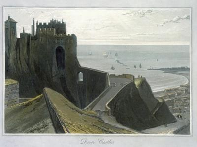 'Dover Castle', Kent, 1823 by William Daniell