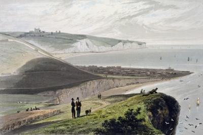 Dover, from Shakespeare's Cliff, Kent, 1829 by William Daniell