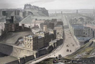 Edinburgh, from Calton Hill, 1829 by William Daniell