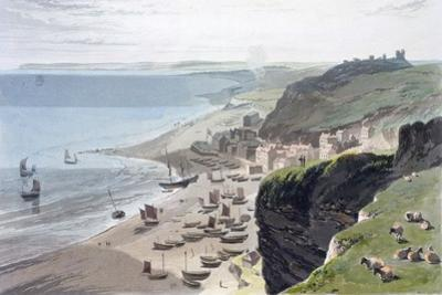 'Hastings, from the East Cliff', 1823 by William Daniell