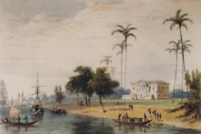 'In the Garden House Reach, Calcutta', c1786-1791, (1935) by William Daniell