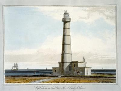 'Lighthouse on the Start, Isle of Sandy, Orkney', 1821 by William Daniell