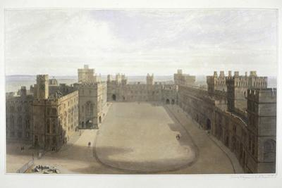 'Looking onto the Quadrangle at Windsor', c1825-1830 by William Daniell