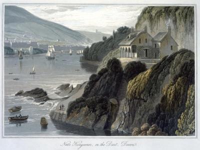 'Near Kingswear, on the Dart, Devon', 1825 by William Daniell