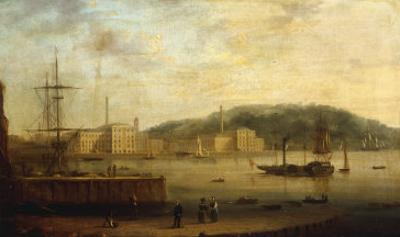 Plymouth Harbour with the Royal William Victualling Yard by William Daniell