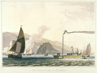 Steamboat on the Clyde Near Dumbarton, C1814 by William Daniell