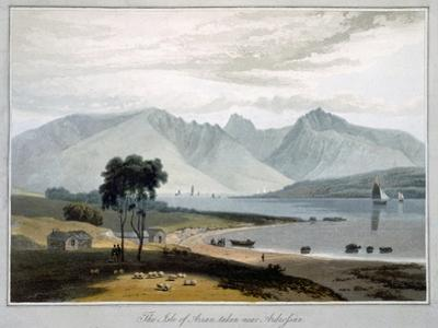 'The Isle of Arran taken near Ardrossan', Scotland, 1817 by William Daniell