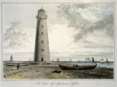 'The Orford Ness Lighthouses, Suffolk', 1822 by William Daniell