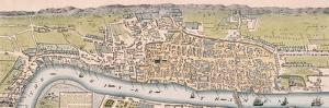 Map of London, C1563 by William Darton