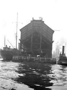 Coal Pocket, Brooklyn Navy Yard, 1912 by William Davis Hassler