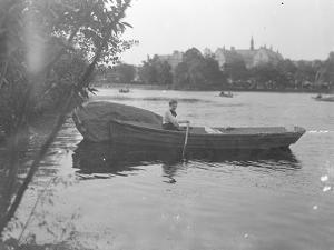 Ethel Gray Magaw Hassler in a Rowboat, Central Park, C.1912 by William Davis Hassler