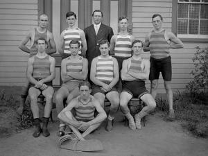 Group of Unidentified Young Men Posing in Swimming Costume, C.1910 by William Davis Hassler