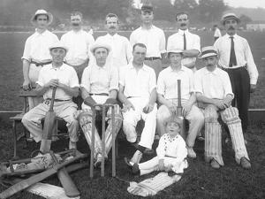Group Portrait of the Holdsport Cricket Club, C.1911-12 by William Davis Hassler
