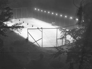 High Angle View of an Unidentified Clay Tennis Court at Night, Undated, July 1915 by William Davis Hassler