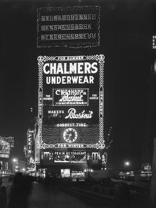 Illuminated Sign for Chalmers Underwear, New York City, January 6, 1917 by William Davis Hassler