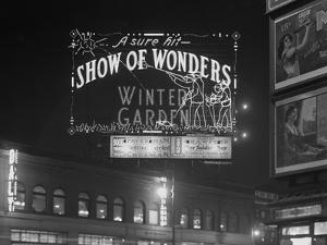 Illuminated Sign for the Winter Garden Theater's 'Show of Wonders,' New York City, January 6, 1917 by William Davis Hassler