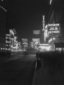 Illuminated Signs in Times Square, New York City, 1917 by William Davis Hassler