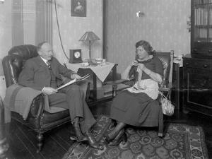 Mr. and Mrs. Austin Norris in Unidentified Living Room, C.1912 by William Davis Hassler