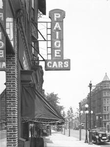 Paige Cars Sign at 1410 Bedford Avenue, Brooklyn, July 13, 1916 by William Davis Hassler