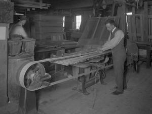 Sanding Mouldings Intended for Wooden Caskets, Oneida, New York, April 3, 1916 by William Davis Hassler