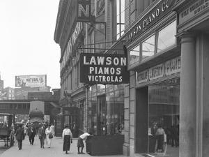 Sign for Lawson Pianos, 372 E. 149th Street, New York City, August 2, 1916 by William Davis Hassler
