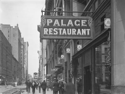 Sign for the Palace Restaurant, W. 28th Street, New York City, July 29, 1916
