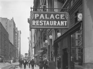Sign for the Palace Restaurant, W. 28th Street, New York City, July 29, 1916 by William Davis Hassler