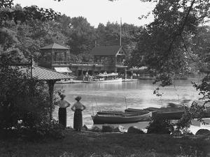 The Boat House, Central Park, New York City, July 19, 1914 by William Davis Hassler