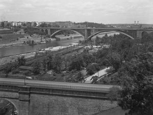 The Washington Bridge, High Bridge, and Washington Heights Viewed from the Bronx, July 19, 1914 by William Davis Hassler