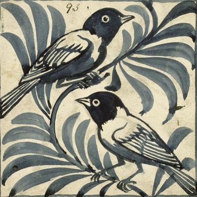 Bluebirds (W/C on Paper) by William De Morgan