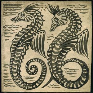 Sea-Horse (W/C on Paper) by William De Morgan