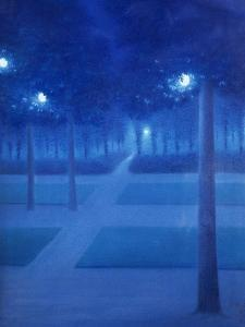 Night Scene in the Parc Royal, Brussels, 1897 by William Degouve De Nuncques