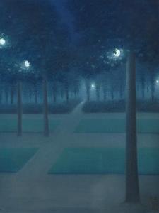 Nocturne in the Parc Royal, Brussels by William Degouve De Nuncques