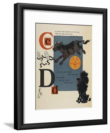 Alphabet Page: C and D. the Cow That Jumped Over the Moon. the Dog That Laughed