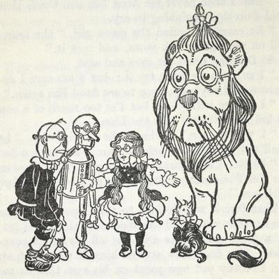 Dorothy, Toto, the Scarecrow, Tinman (Tin Woodman) and the Cowardly Lion, From 'The Wizard Of Oz'