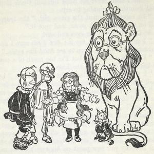Dorothy, Toto, the Scarecrow, Tinman (Tin Woodman) and the Cowardly Lion, From 'The Wizard Of Oz' by William Denslow