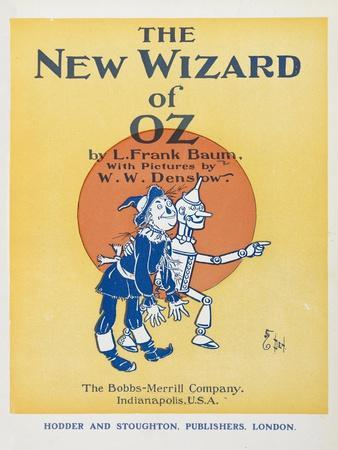 Illustrated Title Page Showing the Scarecrow and the Tin Woodman