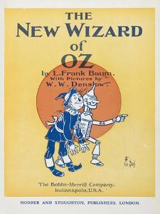 Illustrated Title Page Showing the Scarecrow and the Tin Woodman by William Denslow