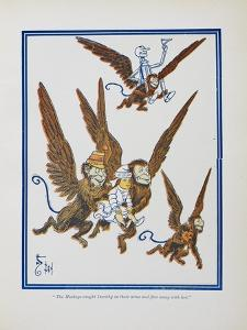"""""""The Monkeys Caught Dorothy in Theirs Arms and Flew Away With Her"""" by William Denslow"""