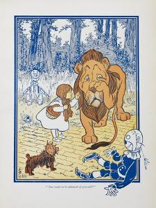 You Ought To Be Ashamed Of Yourself !. the The Cowardly Lion Being Rebuked by Dorothy by William Denslow